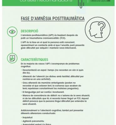 Fitxes neuropsicologia: Fase d'amnèsia posttraumàtica